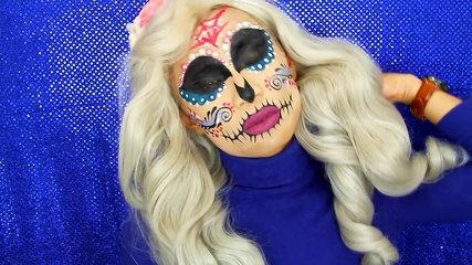 Sugar Skull Halloween Makeup Tutorial With Marc Zapanta | MTV