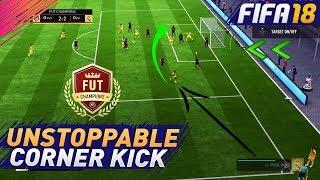 FIFA 18 IMPOSSIBLE TO DEFEND CORNER KICK TUTORIAL - FUTCHAMPIONS 100% WORKING METHOD !