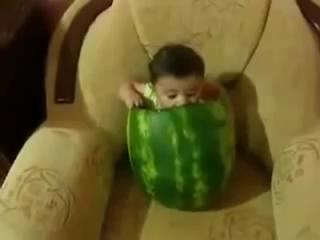 Funny Baby Videos - Baby Eating Watermelon - Cute Baby Eats A Melon
