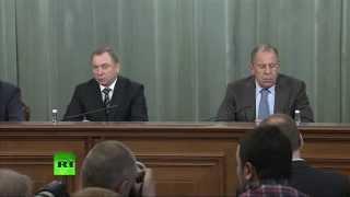 Пресс-конференция Сергея Лаврова по итогам заседания Совета МИД СНГ