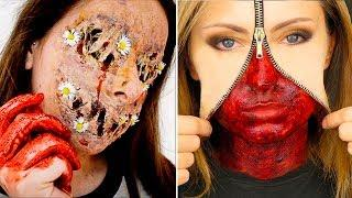 INCREÍBLES MAQUILLAJES PARA HALLOWEEN #7 / Easy Halloween Make Up Tutorial 2017