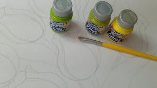 Tutorial De Pintura Textil Como Pintar Hojas De Tulipanes