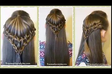 Unique cute Umbrella Lace braid Hairstyle Tutorial