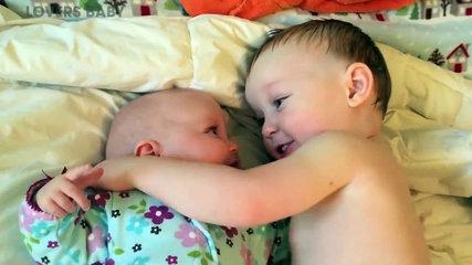 Cutest Big Sister Big Brother and Baby - Funny Cute Video