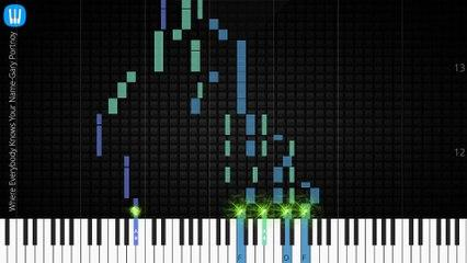[Piano Solo]Where Everybody Knows Your Name-Synthesia Piano Tutorial