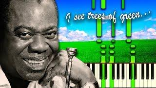 WHAT A WONDERFUL WORLD by Louis Armstrong - Piano Tutorial