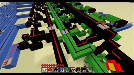 Minecraft - Building an 8 Bit CPU - Part #3 - ALU 3v3 [Tutorial] [HD] [GER]