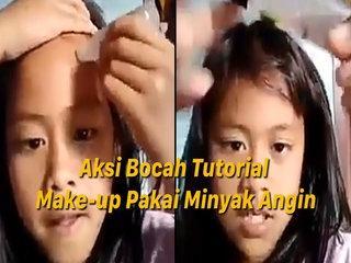 Bocah Ini Pakai Minyak Angin Buat Tutorial Make-up