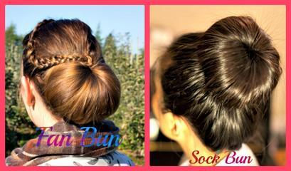 Fan And Sock Bun Hair Tutorial