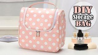 DIY CUTE HANDBAG Travel Beauty Storage Bag Tutorial Zip