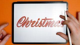 Procreate CHRISTMAS Lettering For Beginners - iPad Pro Tutorial