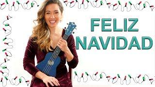 Feliz Navidad - EASY Ukulele Tutorial with Play Along