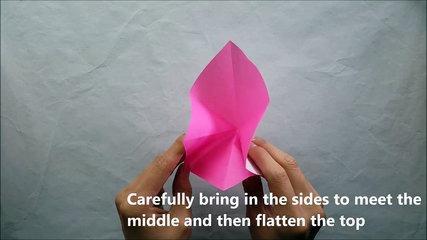 Easy Fast Origami Iris Tutorial