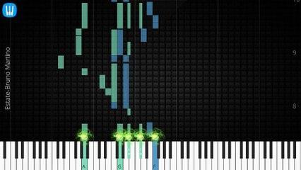 [Piano Solo]Estate, Bruno Martino-Synthesia Piano Tutorial