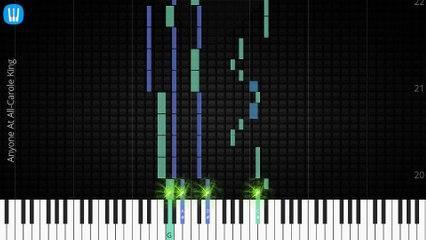 [Piano Solo]Anyone At All, Carole King-Synthesia Piano Tutorial