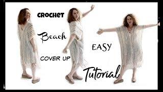 The Easiest Crochet Beach Cover up Tutorial