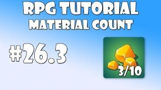#26.3 Unity RPG Tutorial - Material count