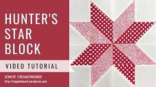 Hunter's star quilt block video tutorial