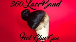 360 Lace Band Frontal Hot Glue Gun Ponytail Tutorial