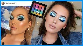 RECREATING NIKKIE TUTORIALS CLOUD MAKEUP TREND TUTORIAL USING NYX ULTIMATE BRIGHTS  | MAKEMEUPMISSA