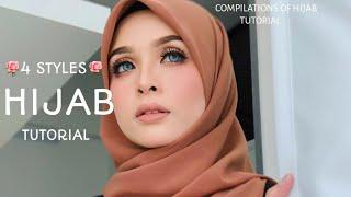 4 STYLES ||MOST RARE & SWEETS|| HIJAB SQUARE TUTORIAL|| LATEST|| ❤❤