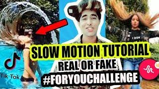 SLOW MOTION TIK TOK MUSICALLY TUTORIAL IN HINDI | REAL OR FAKE SLOWMO FOR YOU CHALLENGE | FLIP HAIR