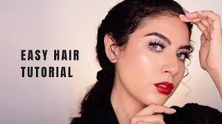 EASY HAIR TUTORIAL FOR CURLY HAIR