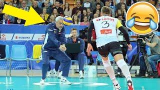 COACH PLAY VOLLEYBALL !? Funny Volleyball Videos (HD)