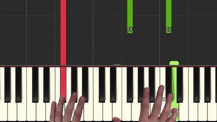How to play 'SS ANNE' from Pokemweon Red Blue Yellow (Synthesia) [Piano Video Tutorial] [HD]