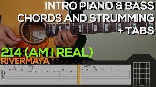 Rivermaya - 214 Guitar Tutorial [INTRO PIANO & BASS, CHORDS AND STRUMMING + TABS]