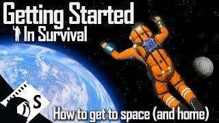 Going to Space - Getting Started in Space Engineers #6 (Survival Tutorial Series)