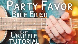 Party Favor Billie Eilish Ukulele Tutorial // Party Favor Ukulele // Lesson #636