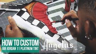 Custom Air Jordan 11 Platinum Tint | Full Tutorial |Custom Shoes