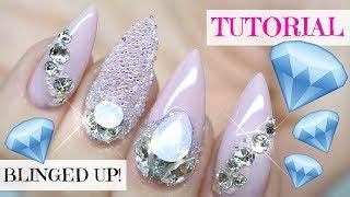 TUTORIAL | USING NEW LIGHT ELEGANCE BUTTERCREAM | POINTY ALMOND NAILS BLINGED UP TO THE MAX!