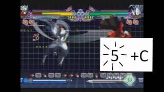Blazblue CS:EX Tutorial : Hakumens Bnb Combo / Challenge 9 [english] [tutorial] Beta