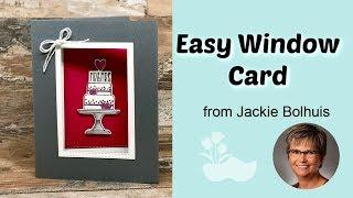 Easy Handmade Wedding Card | Window Card Tutorial