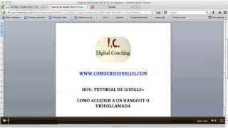 Tutorial De Google+ (español): Cómo Acceder A Google+ Hangout O Videollamada