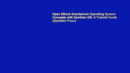 Open EBook Smartphone Operating System Concepts with Symbian OS: A Tutorial Guide (Symbian Press)