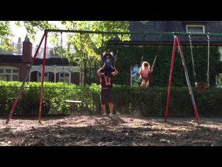 Funny Dad Combines Parenting With Exercise