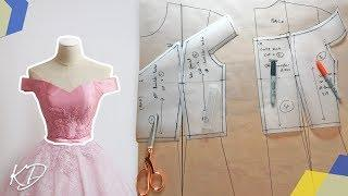 OFF-SHOULDER BODICE PATTERN TUTORIAL | KIM DAVE
