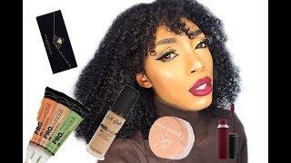 EASY SIMPLE everyday MAKEUP TUTORIAL for all skin tones plus Afro hair review