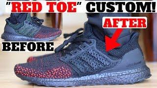 "CUSTOM ADIDAS ULTRA BOOST CLIMA ""RED TOE"" TUTORIAL"