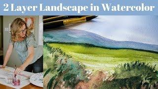 How to Paint Foliage in Watercolor: 2 Stage Landscape Painting Tutorial with Angela Fehr