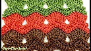 How To Crochet The Vintage Fan Ripple Stitch | BAGODAY CROCHET  TUTORIAL #519